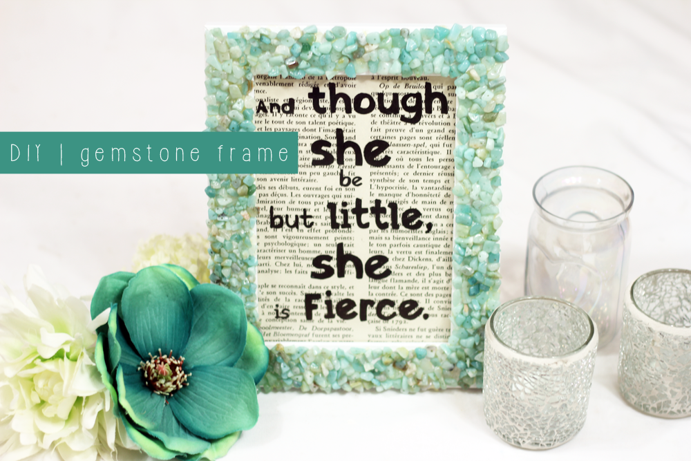 DIY | gemstone frame